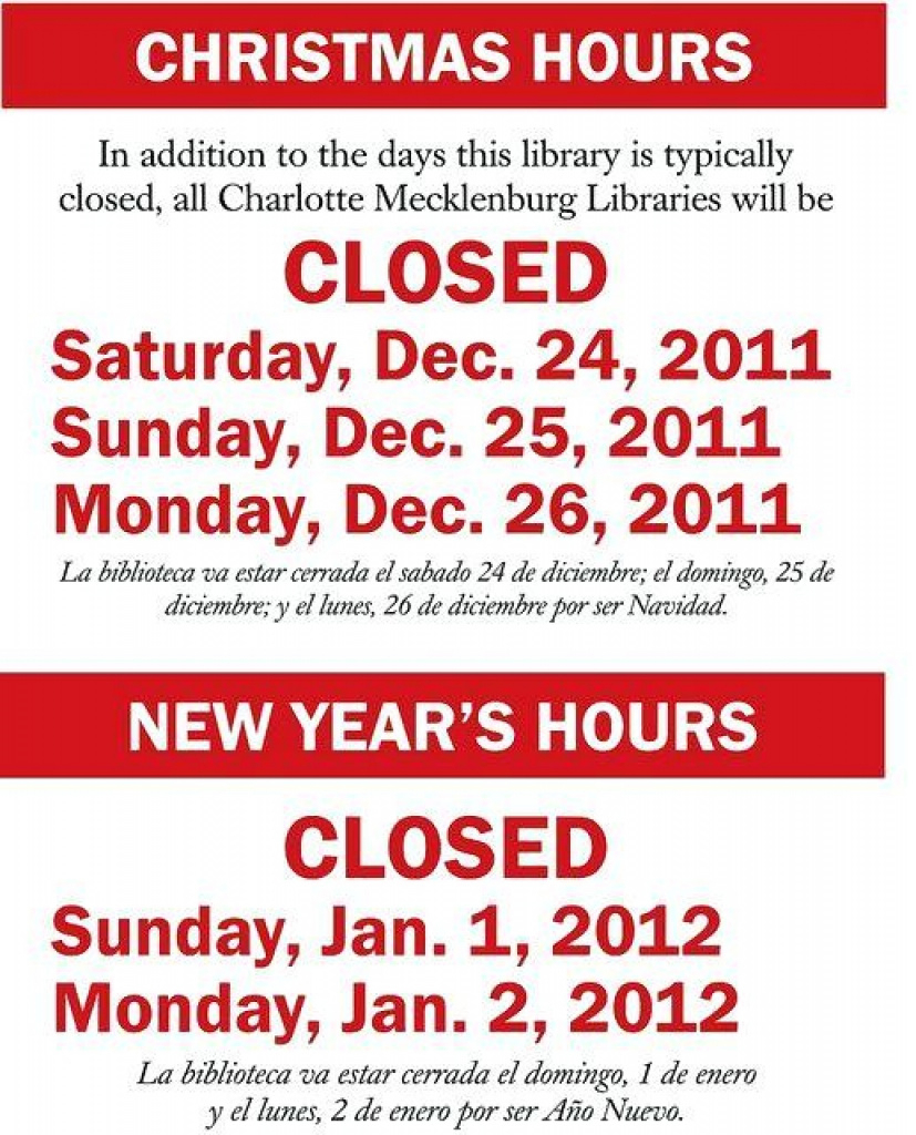 Holiday Closing Signs Templates   Template Business For Free - Free Printable Holiday Signs Closed