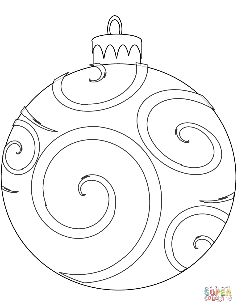Holiday Ornament Coloring Page | Free Printable Coloring Pages - Free Printable Christmas Ornament Coloring Pages