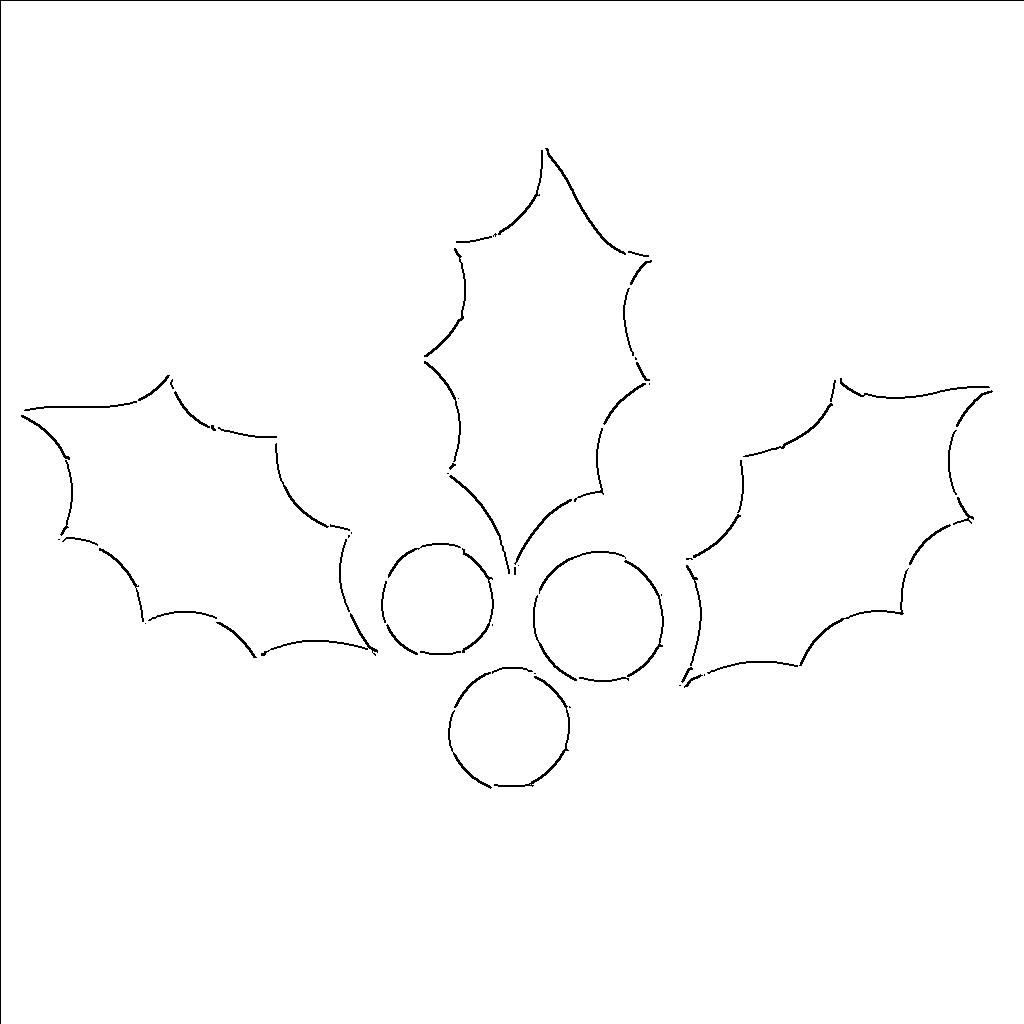 image about Leaf Cutout Printable named Holly Leaf Templates - Totally free Printable Practices In direction of Slash Out