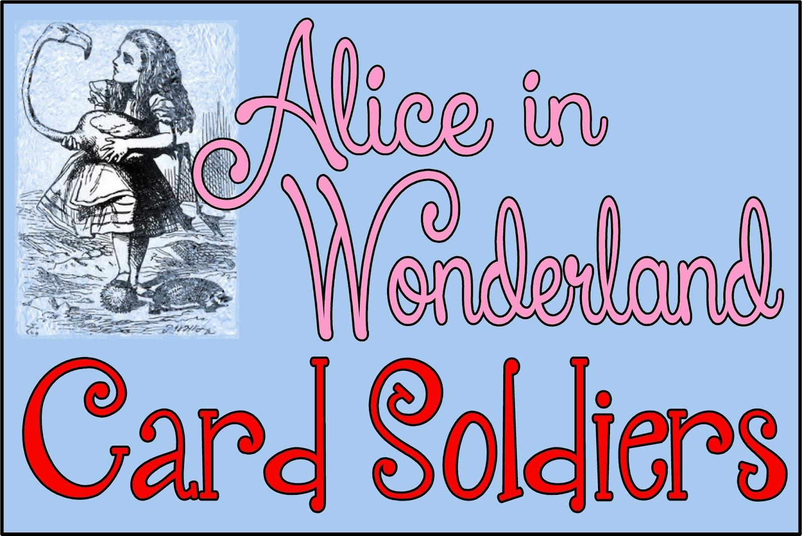 Hollyshome Family Life: Alice In Wonderland Card Soldiers - Free - Alice In Wonderland Signs Free Printable