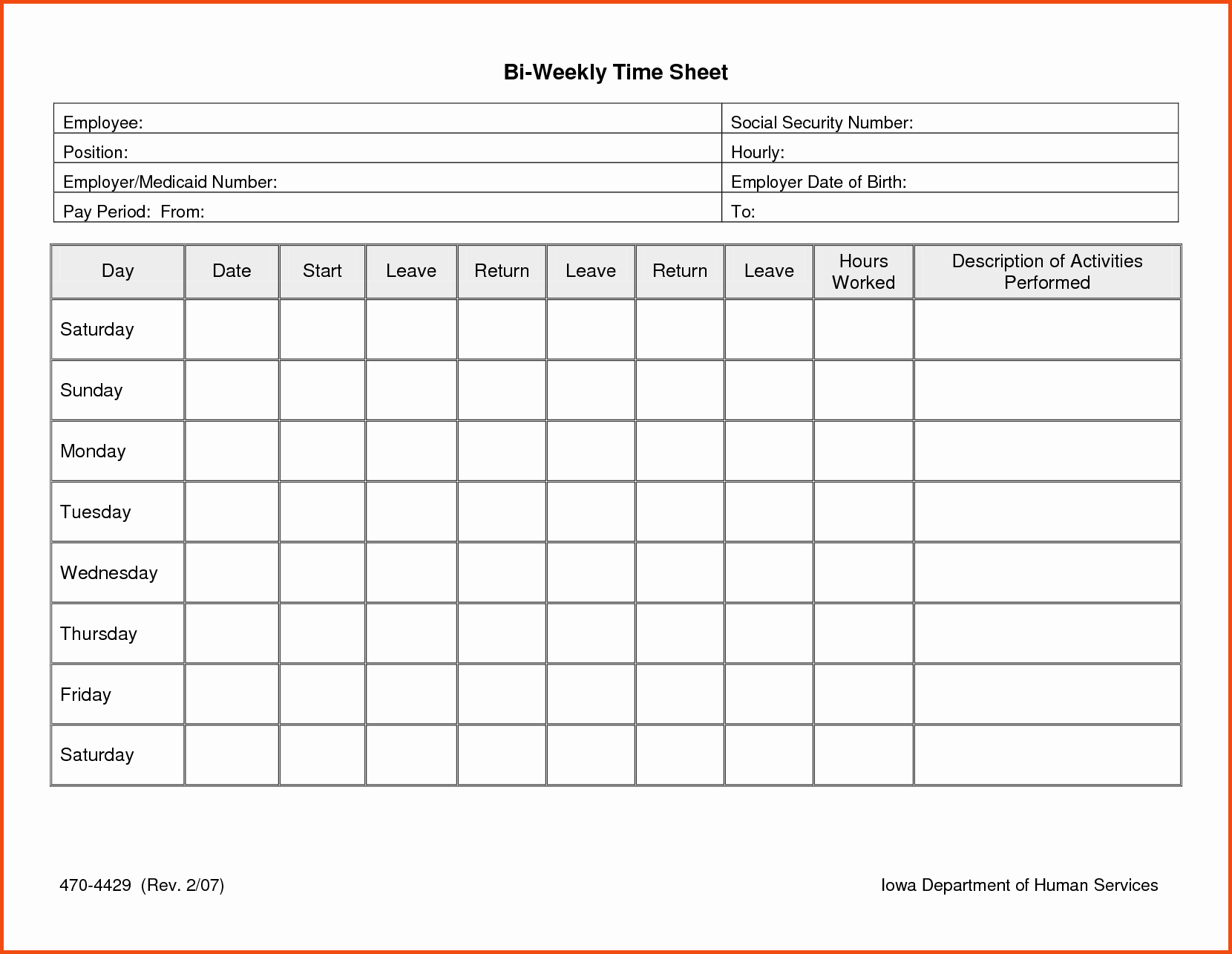 Home Health Care Timesheets Of Daily Timesheet Template Free - Free Printable Blank Time Sheets