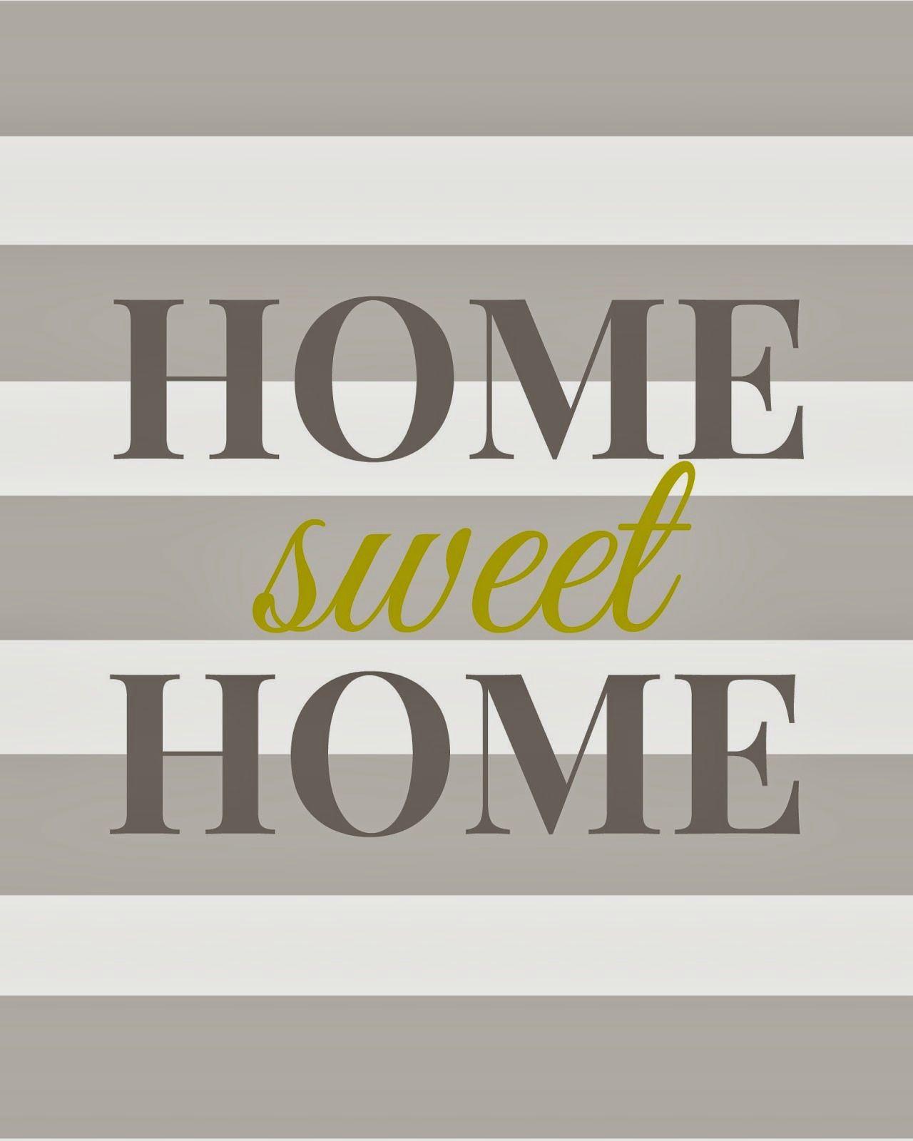Home Sweet Home - Free Printable | Idées Pour La Maison | Plotten - Home Sweet Home Free Printable