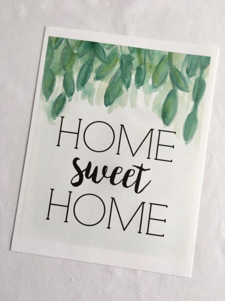 Home Sweet Home Free Printable