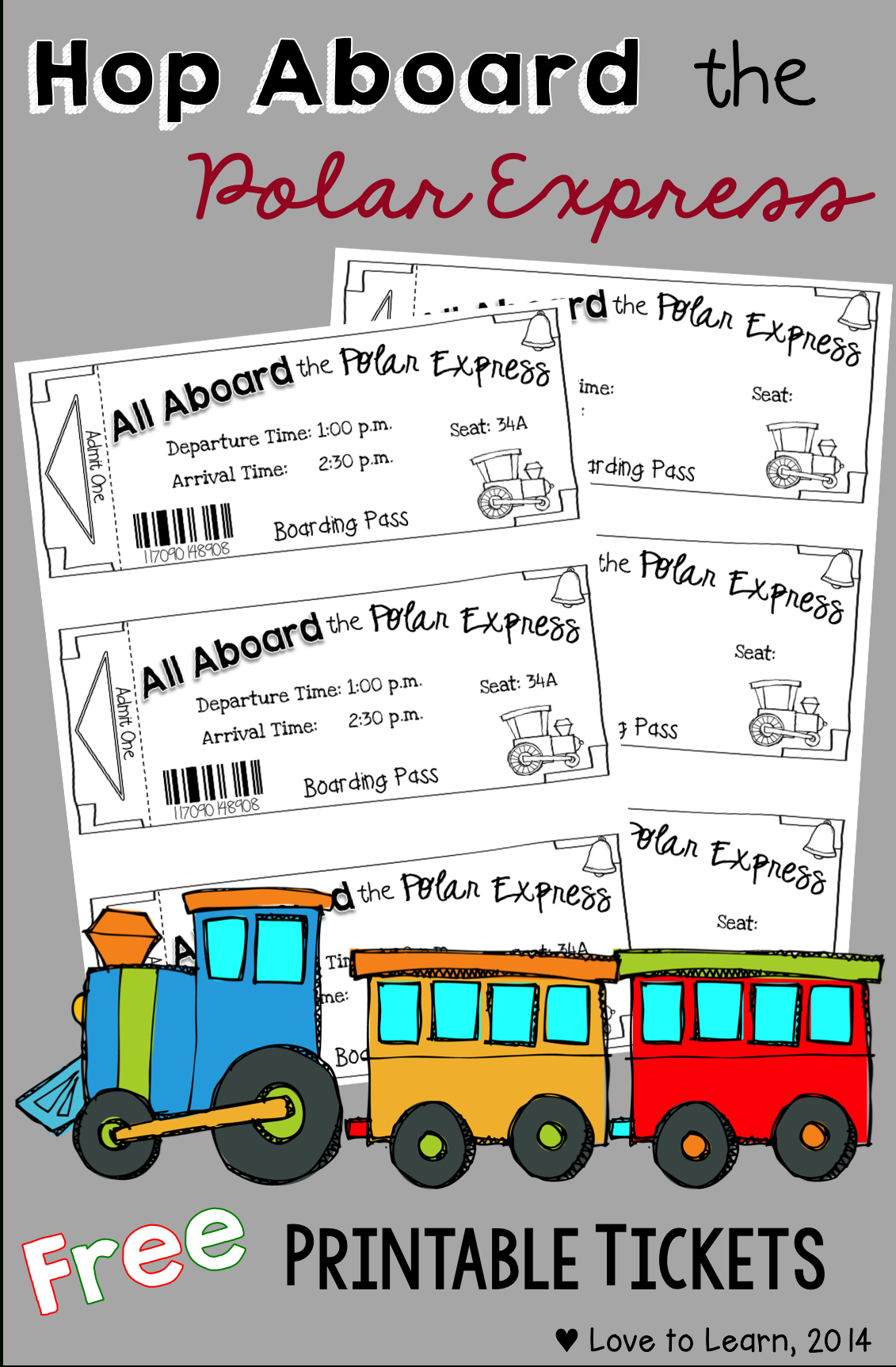 Hop Aboard The Polar Express With These Free Printable Tickets - Free Polar Express Printable Tickets