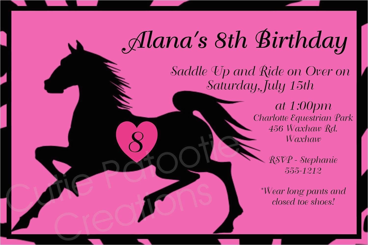 Horse Themed Birthday Party Invitations Birthday Invitations Free - Free Printable Horse Themed Birthday Party Invitations