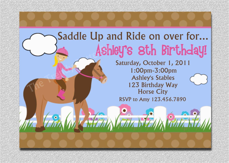 Horse Themed Birthday Party Invitations Birthday Invitations Free - Free Printable Horse Themed Birthday Party Invitations