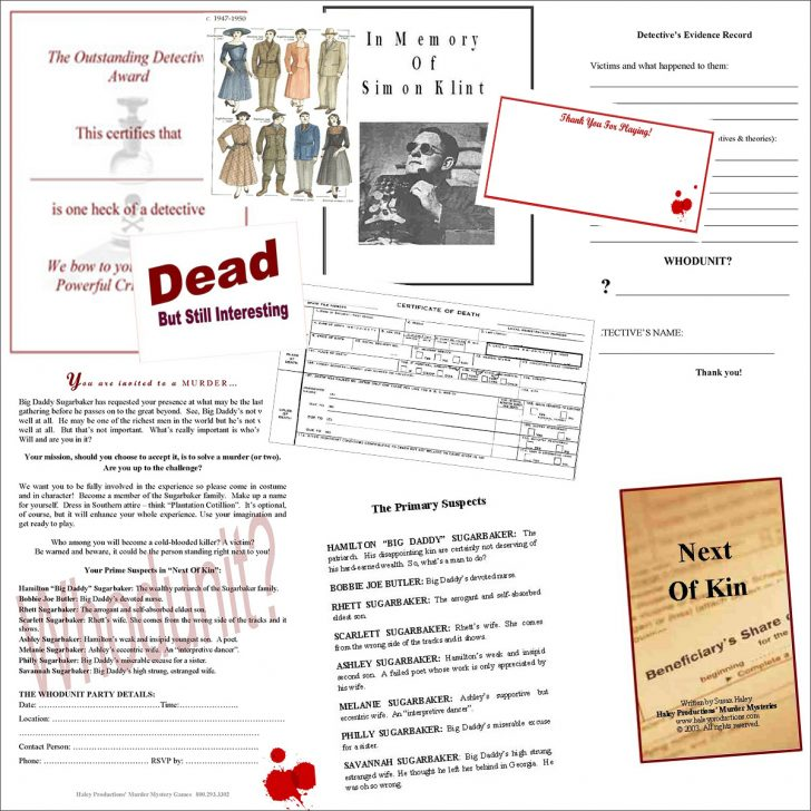 Free Printable Detective Games