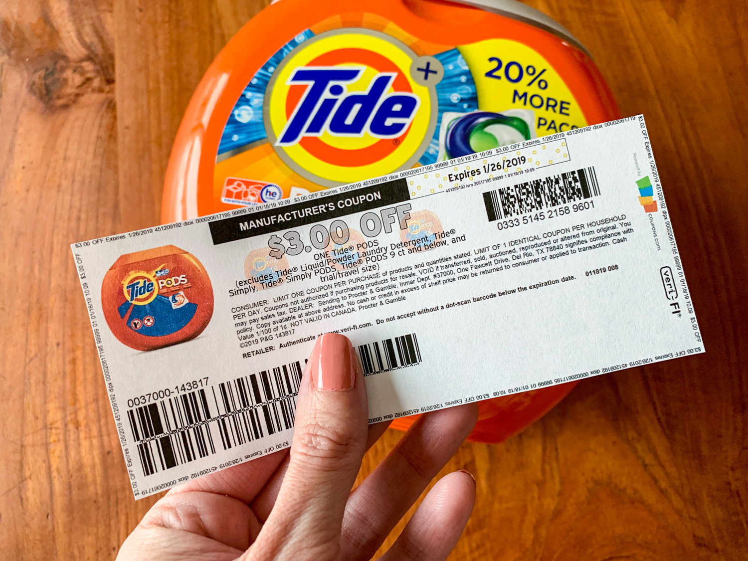 Hot* $3 Off Tide Pods Printable Coupon (Available For 7 Days Only - Tide Coupons Free Printable