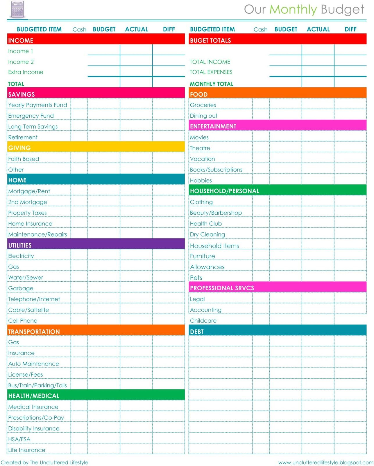 How I Keep The House Running - Part 2 … | Budget | Pinte… - Free Printable Budget Planner Uk