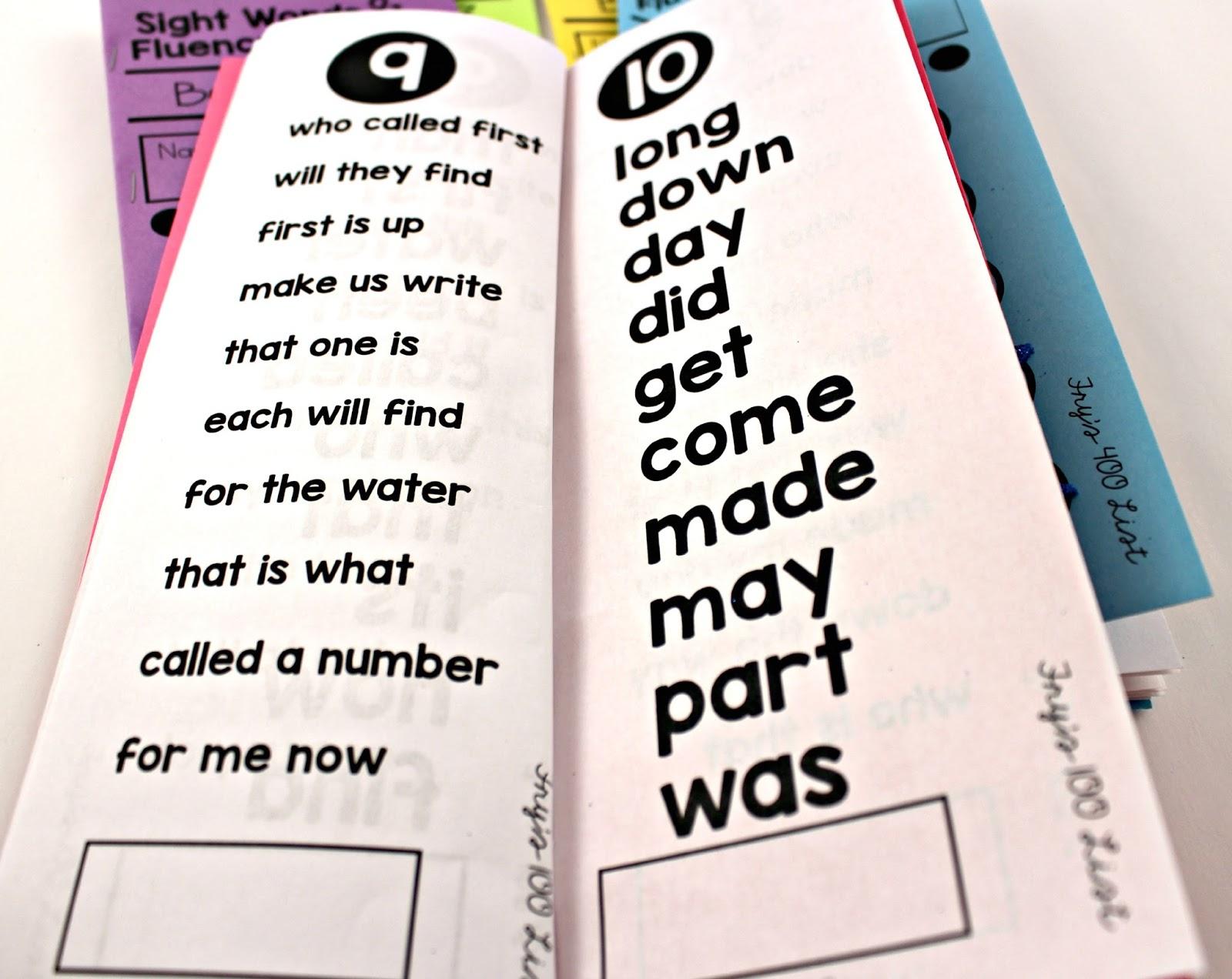 How I Track Sight Words - Tunstall's Teaching Tidbits - Free Printable Sight Word Books