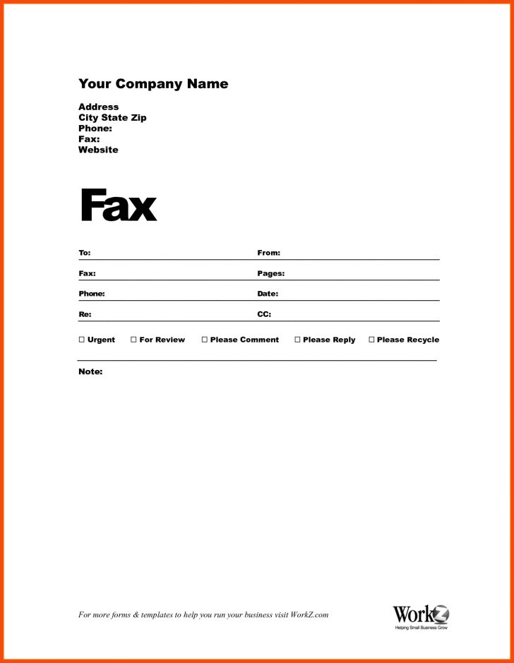Free Printable Fax Cover Page