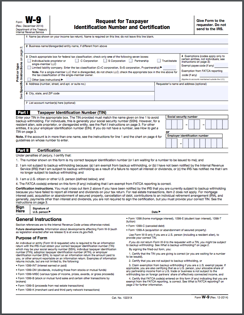 How To Fill Out A W-9 Form Online | Hellosign Blog - Free Printable W 4 Form