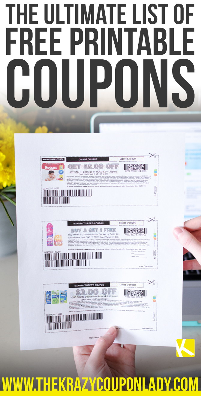 How To Find And Print Free Internet Coupons - The Krazy Coupon Lady - Free Printable Coupons Without Downloading Or Registering