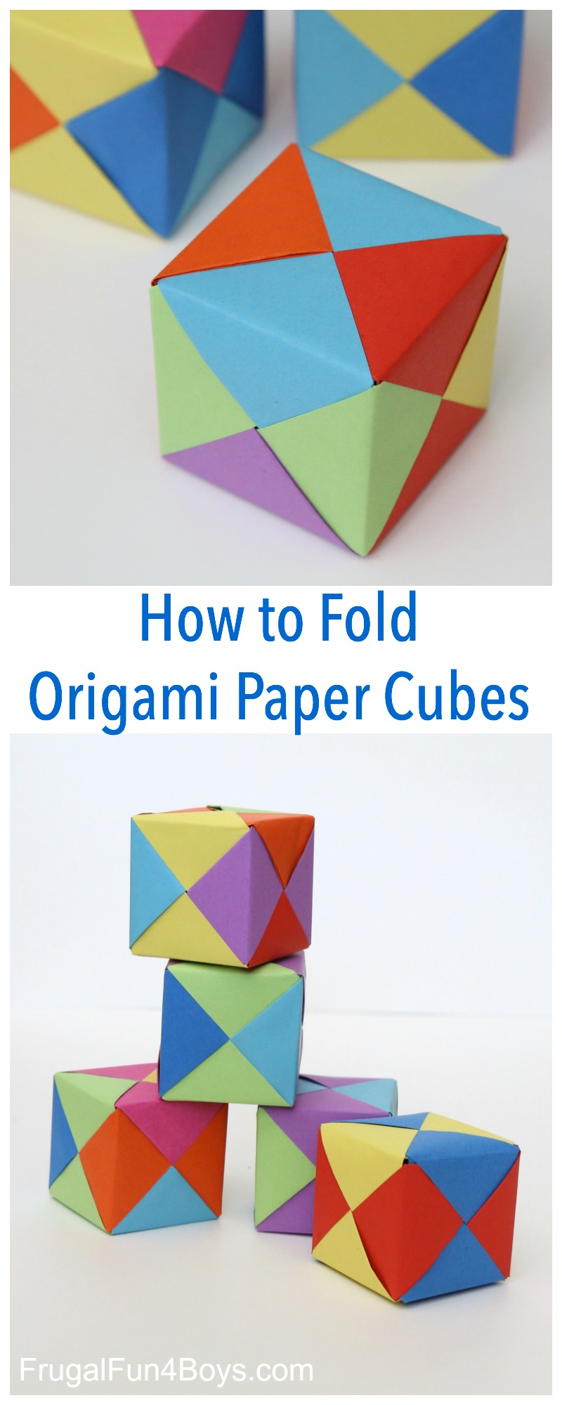 How To Fold Origami Paper Cubes - Frugal Fun For Boys And Girls - Printable Origami Instructions Free