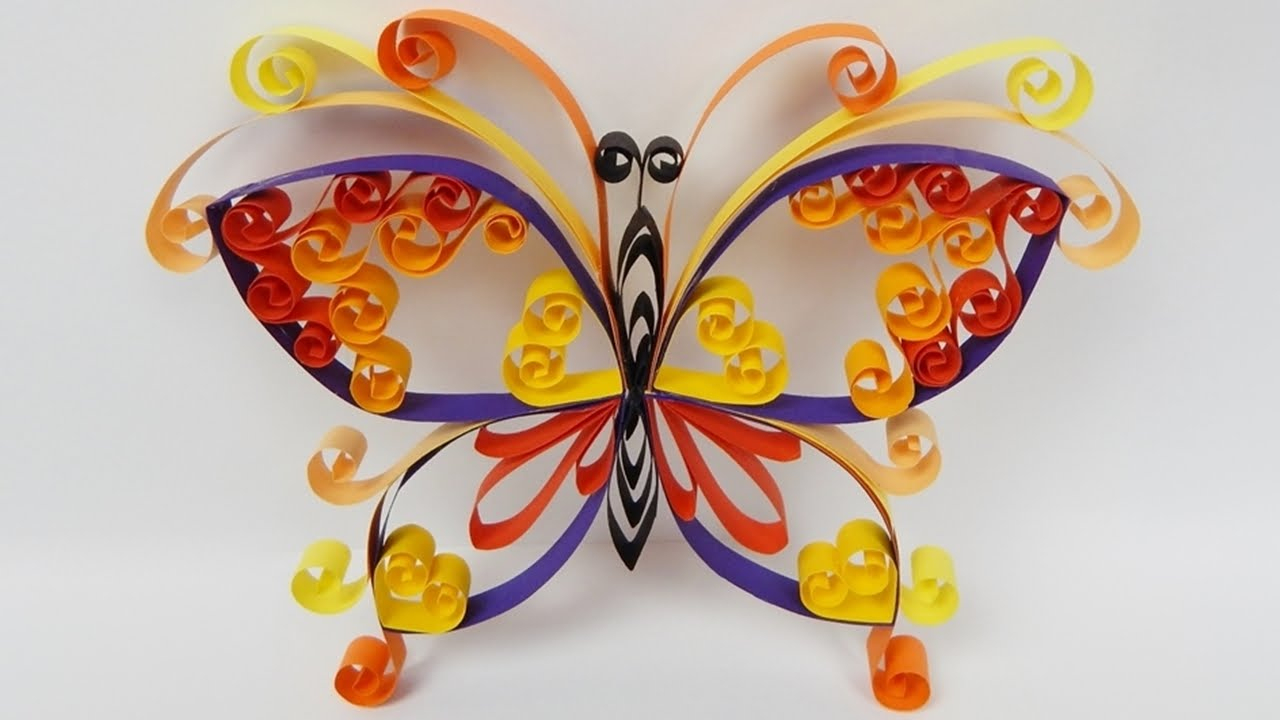 How To Make A Quilling Butterfly Diy (Tutorial + Free Pattern) - Youtube - Free Printable Quilling Patterns