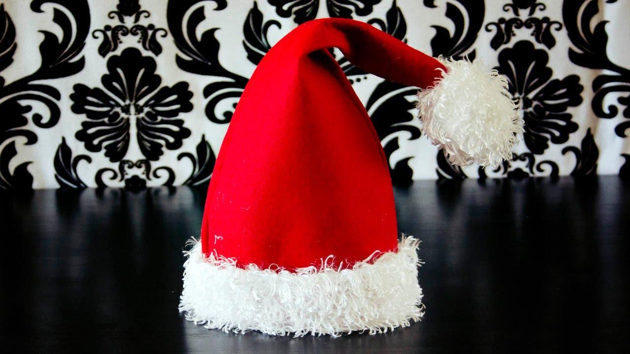 How To Make A Santa Hat - Youtube - Free Printable Santa Hat Patterns