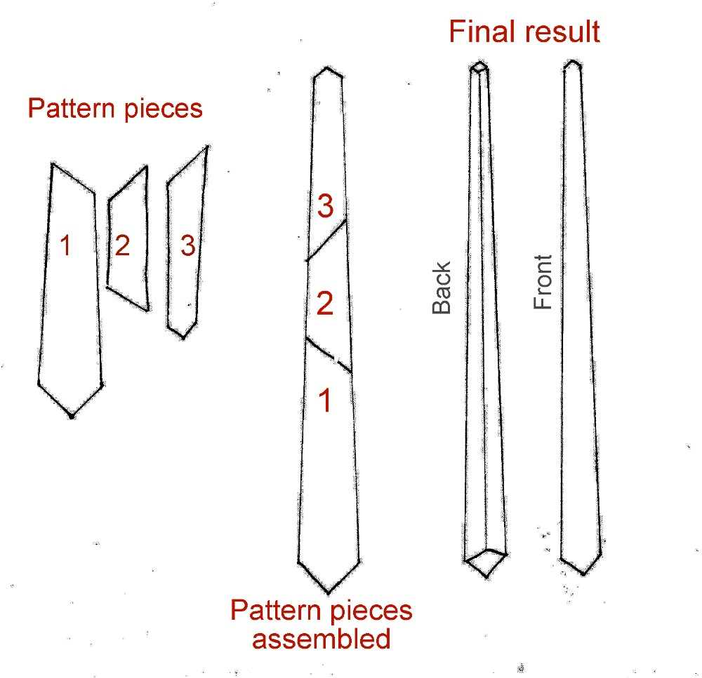 How To Make A Tie - Free Printable Tie Template