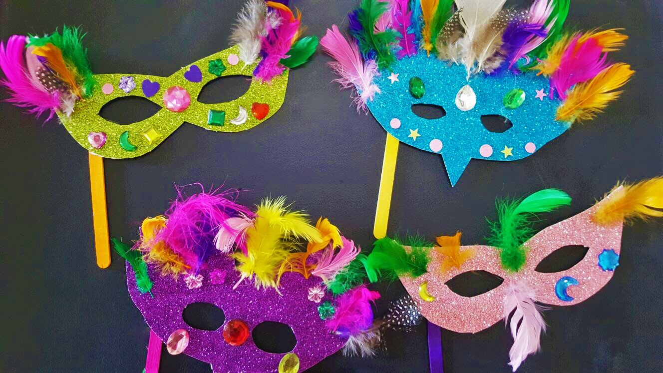 How To Make Masquerade Bird Masks + Free Printable Mask Template - Free Printable Masquerade Masks