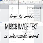 How To Make Mirror Image Text In Microsoft Word   Free Printable Mirrored Numbers