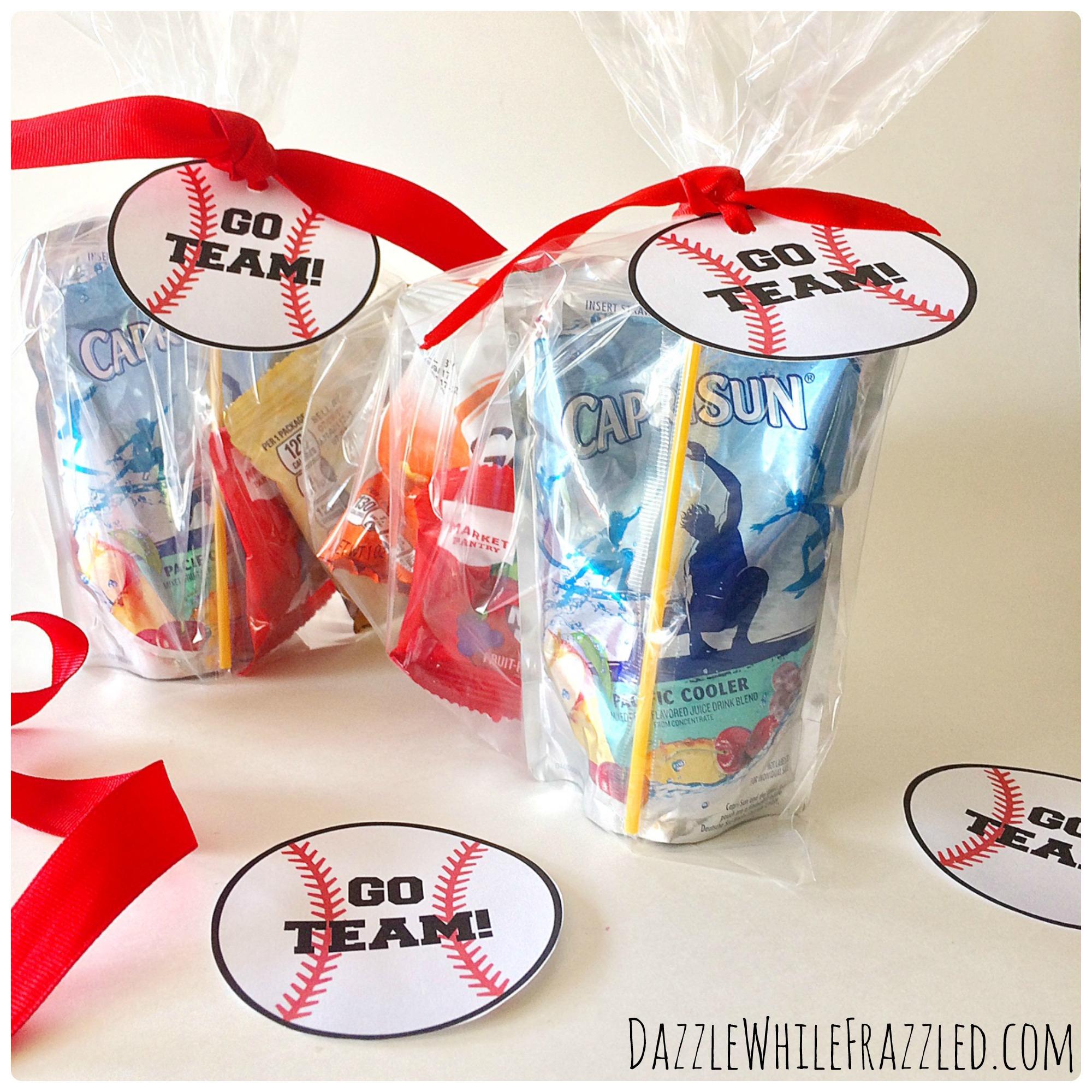 How To Make Printable Tags For Baseball Snack Bags - - Free Printable Baseball Favor Tags