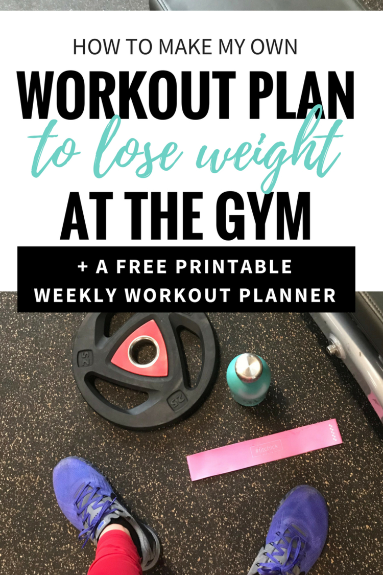 How To Make Your Own Workout Plan [Printable] | Workouts | Pinterest - Free Printable Gym Workout Plans