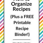 How To Organize Recipes (Plus A Free Printable Recipe Binder   Free Printable Cookbooks Pdf