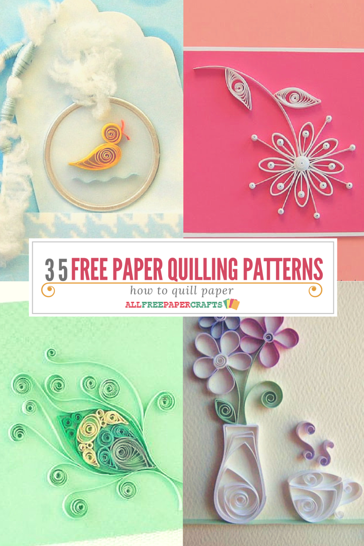 How To Quill Paper: 40+ Free Paper Quilling Patterns | Crafts - Free Printable Quilling Patterns