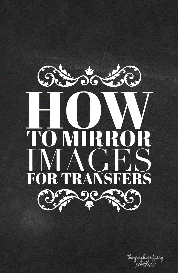 How To Reverse Images For Transfers! - The Graphics Fairy - Free Printable Mirrored Numbers