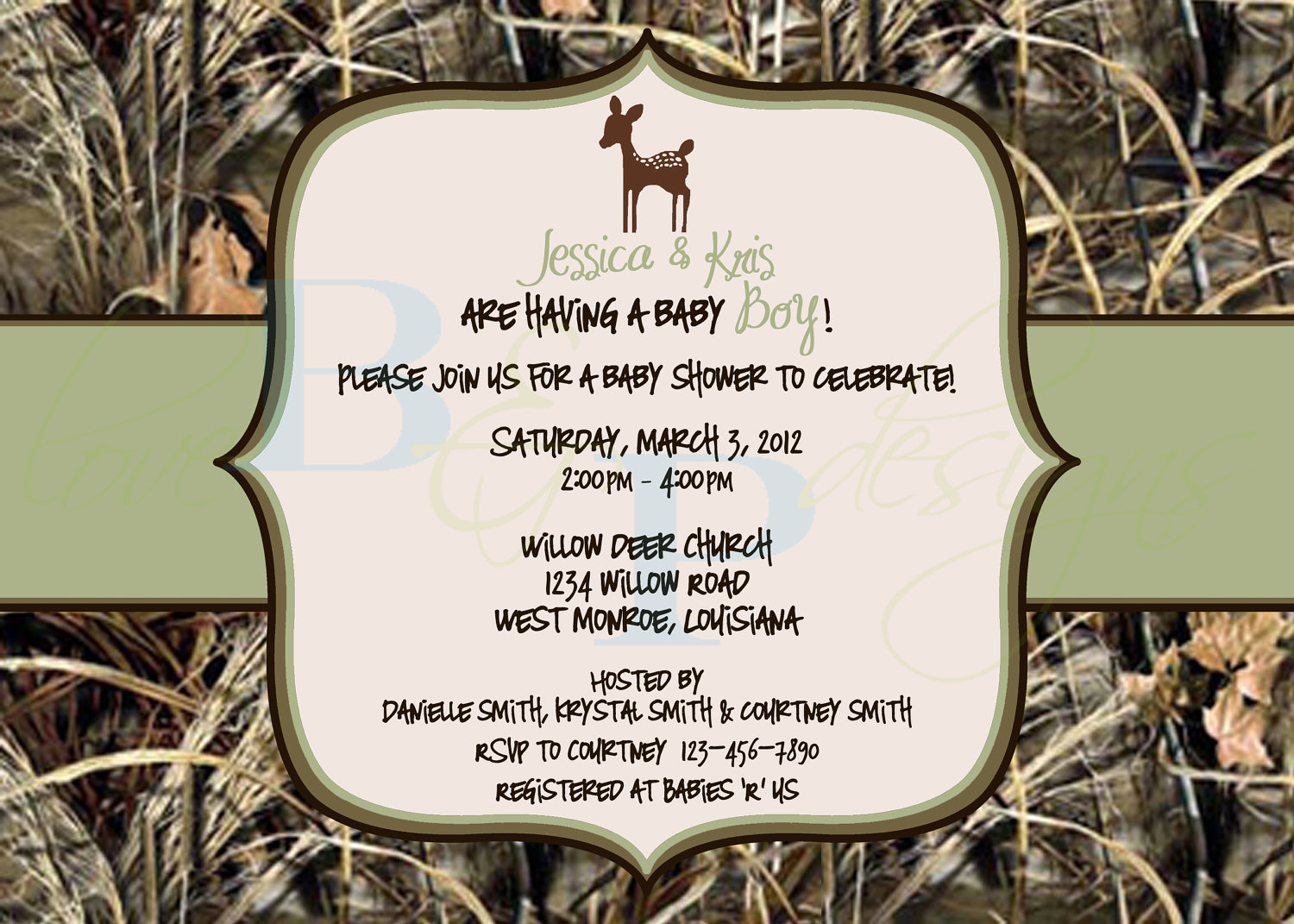 How To Throw Camouflage Themed Baby Shower | Free Printable Baby - Free Printable Camo Baby Shower Invitations