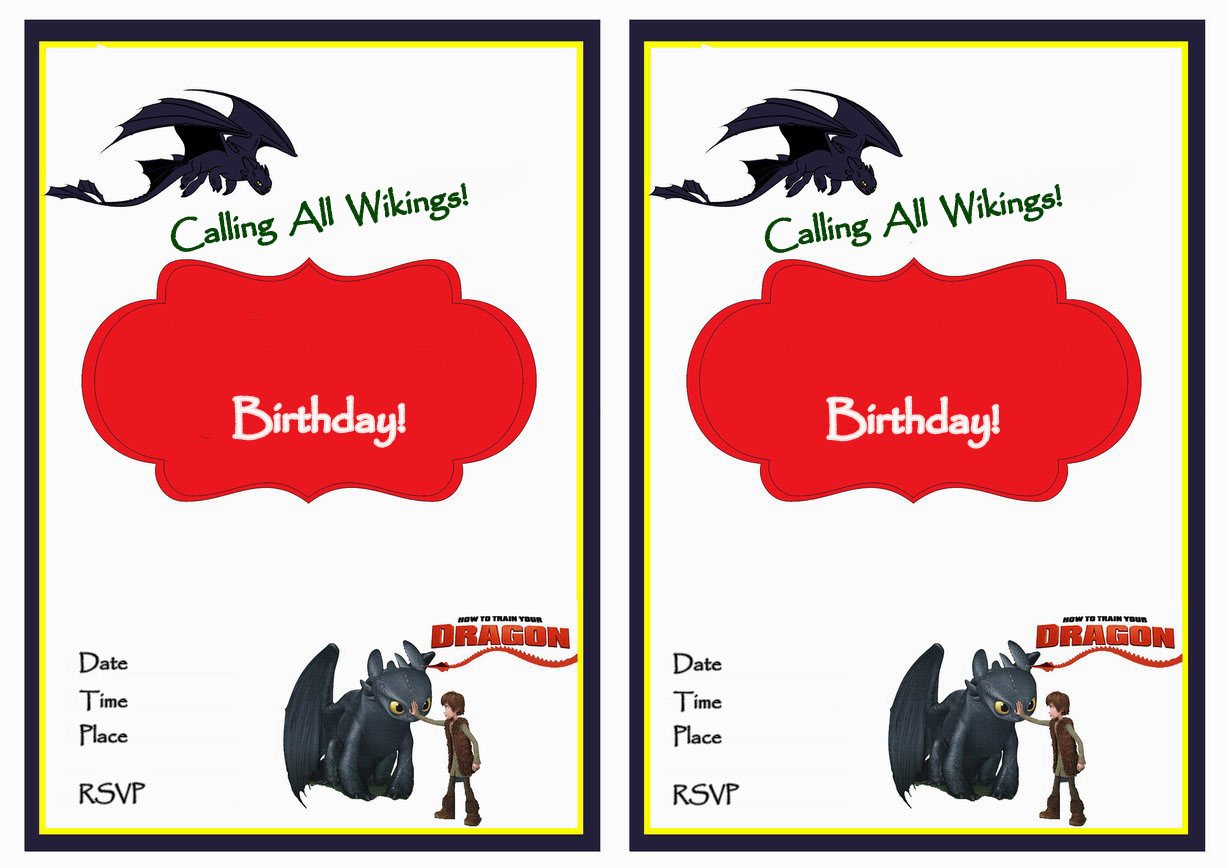 How To Train Your Dragon Birthday Invitations | Birthday Printable - How To Train Your Dragon Birthday Invitations Printable Free