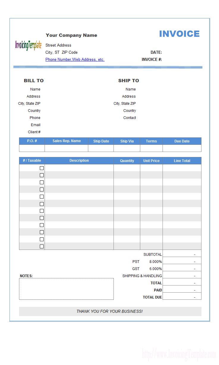 Html Css Invoice Template Resume Templates Bill Free Download Page - Free Bill Invoice Template Printable