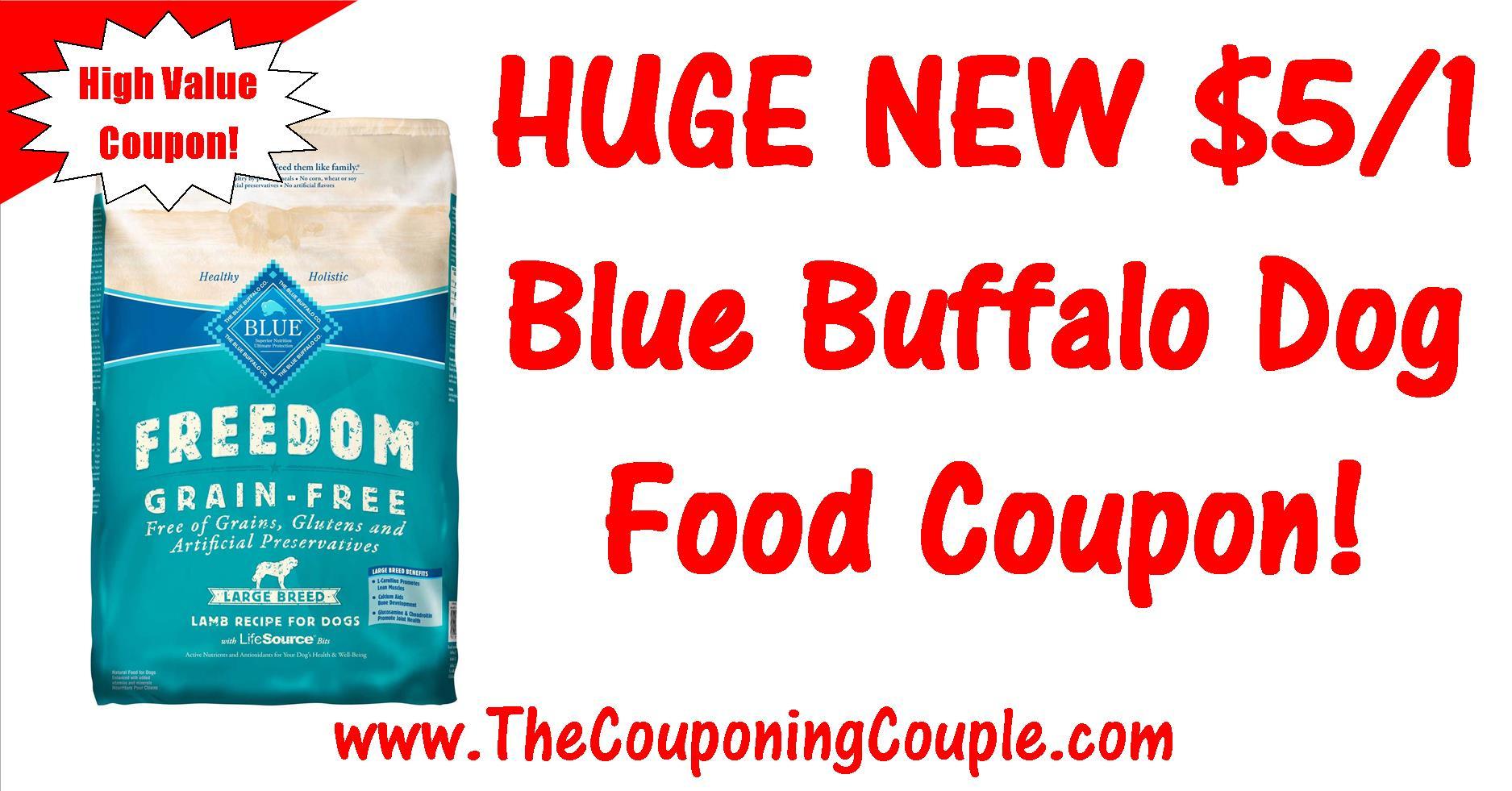 Huge Blue Buffalo Dog Food Printable Coupon ~ $5.00/1 Coupon! - Free Printable Dog Food Coupons