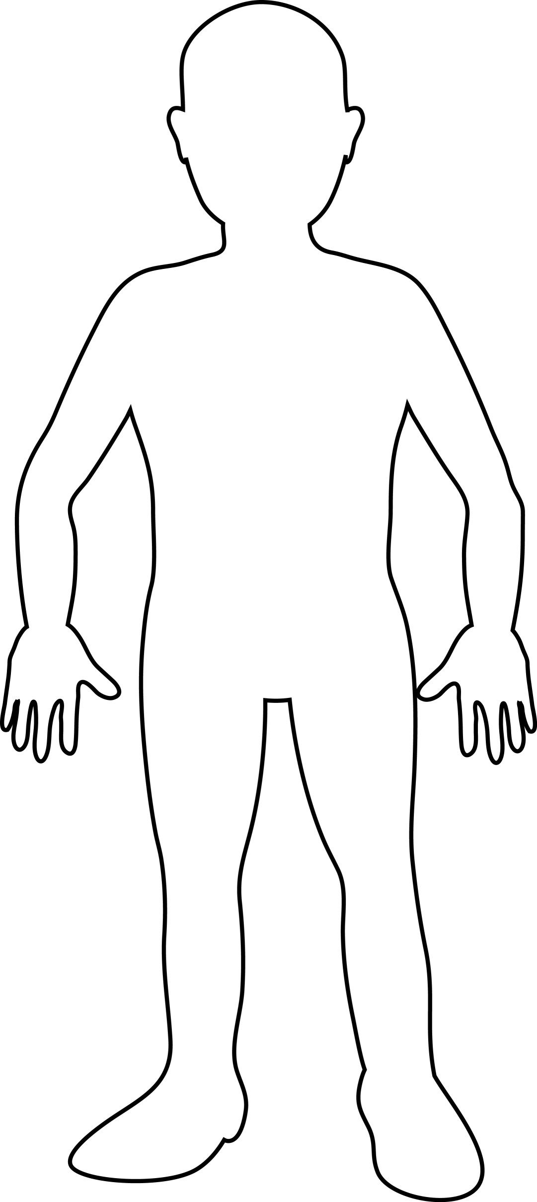 Human Body Outline For Kids And Adult | Трафареты | Human Body, Body - Free Printable Human Body Template