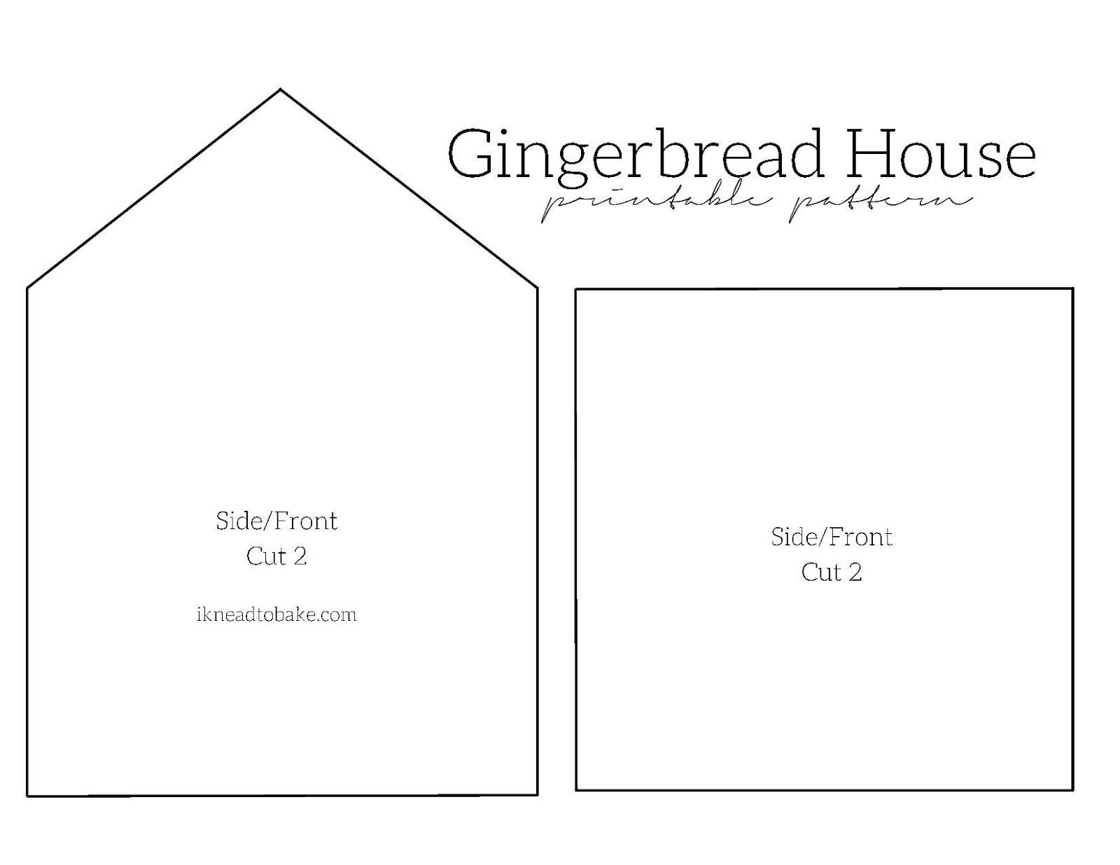 I Knead To Bake: Gingerbread Houses 2014 + Free Printable Pattern - Gingerbread Template Free Printable