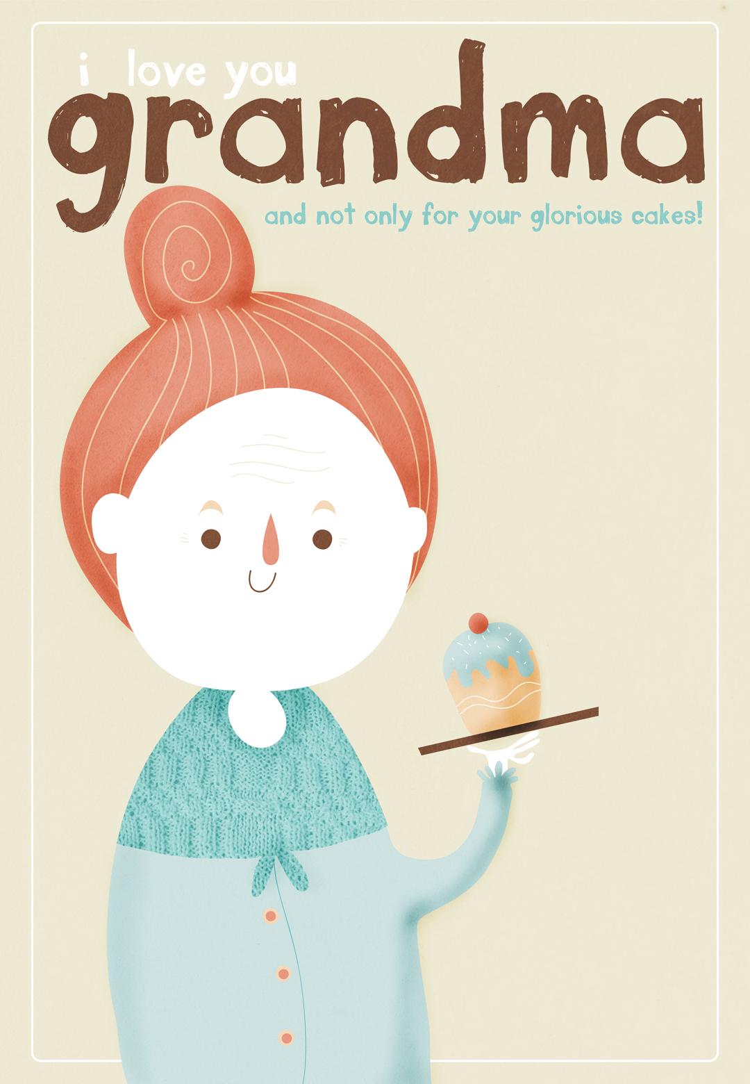 I Love You Grandma - Free Grandperants Day Card   Greetings Island - Christmas Cards For Grandparents Free Printable