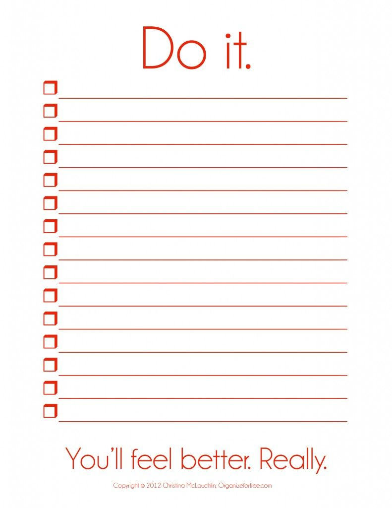 I So Need This! ~ Things To Do Template Pdf   Free Printable To Do - Free Printable To Do Lists To Get Organized