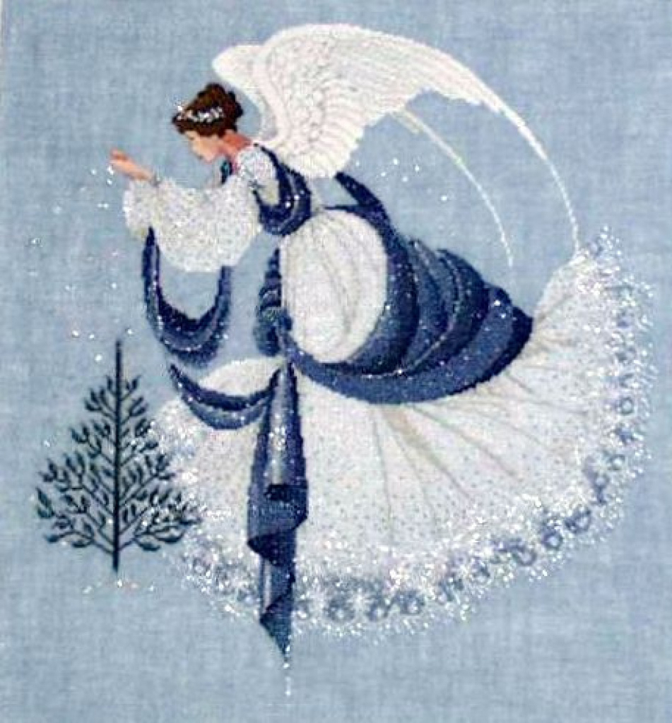 Ice Angel Cross Stitch   This Was A Difficult Piece To Compl - Free Printable Cross Stitch Patterns Angels