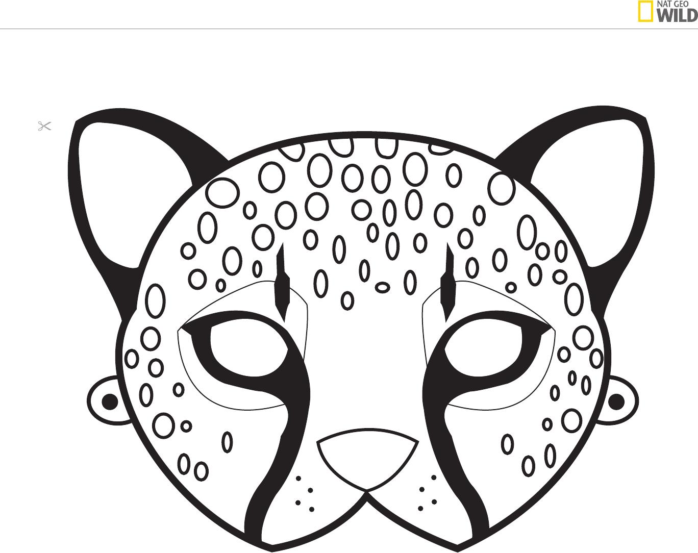Ideas For A Natural African Safari Theme Party | Cheetah Birthday - Giraffe Mask Template Printable Free