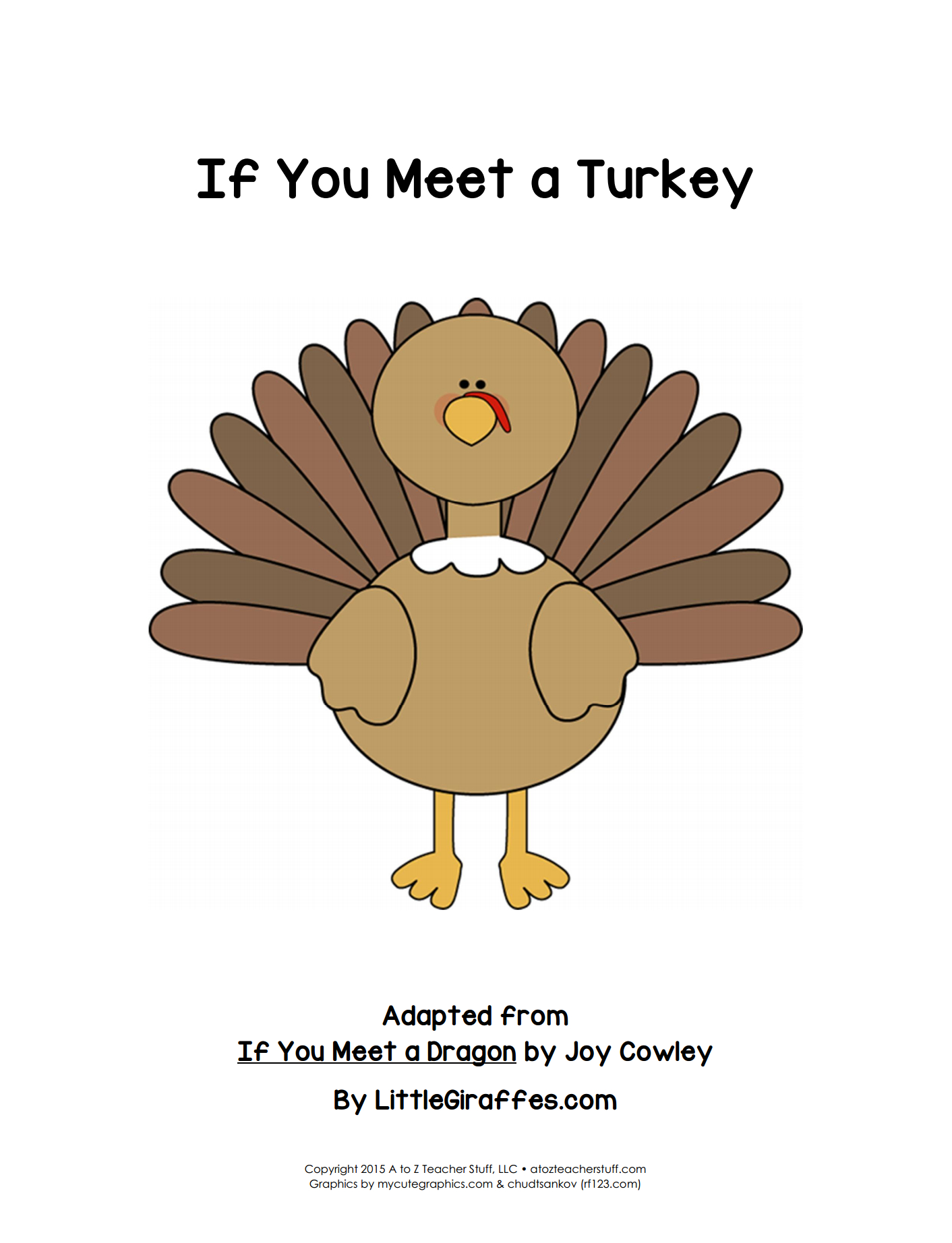 If You Meet A Turkey Printable Book | A To Z Teacher Stuff Printable - Free Printable Turkey