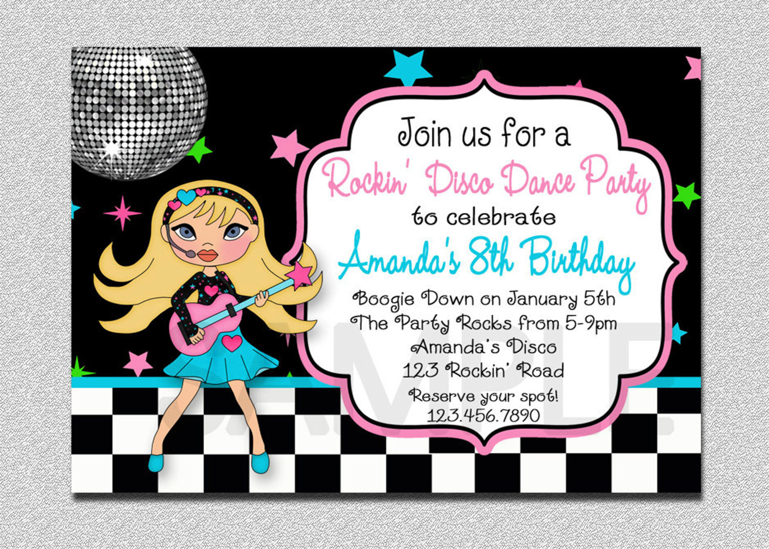 Il Xn Pw Cute Free Printable Karaoke Party Invitations - Free Printable Karaoke Party Invitations