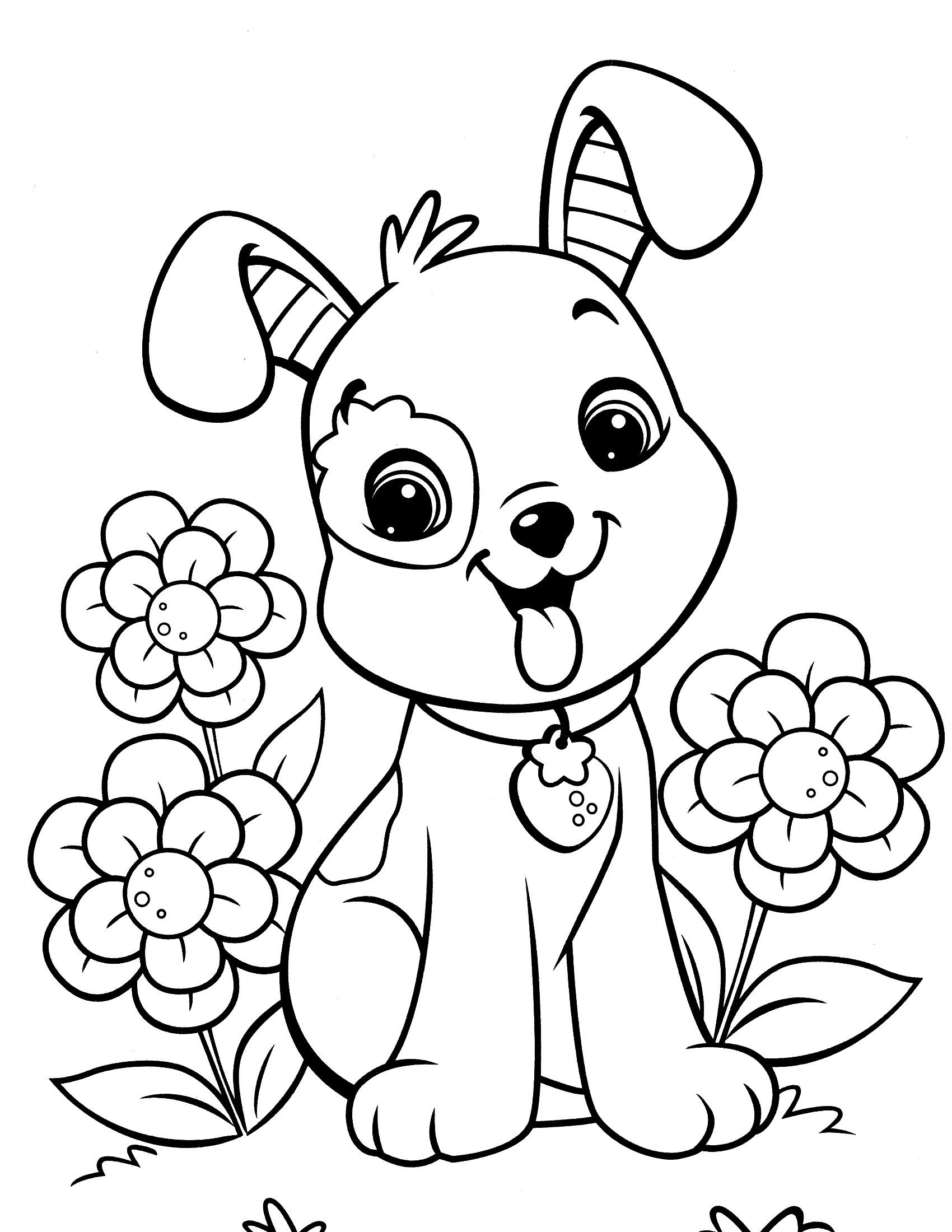 Image Result For Free Dog Coloring Pages   Coussin Cochon - Free Printable Dog Coloring Pages