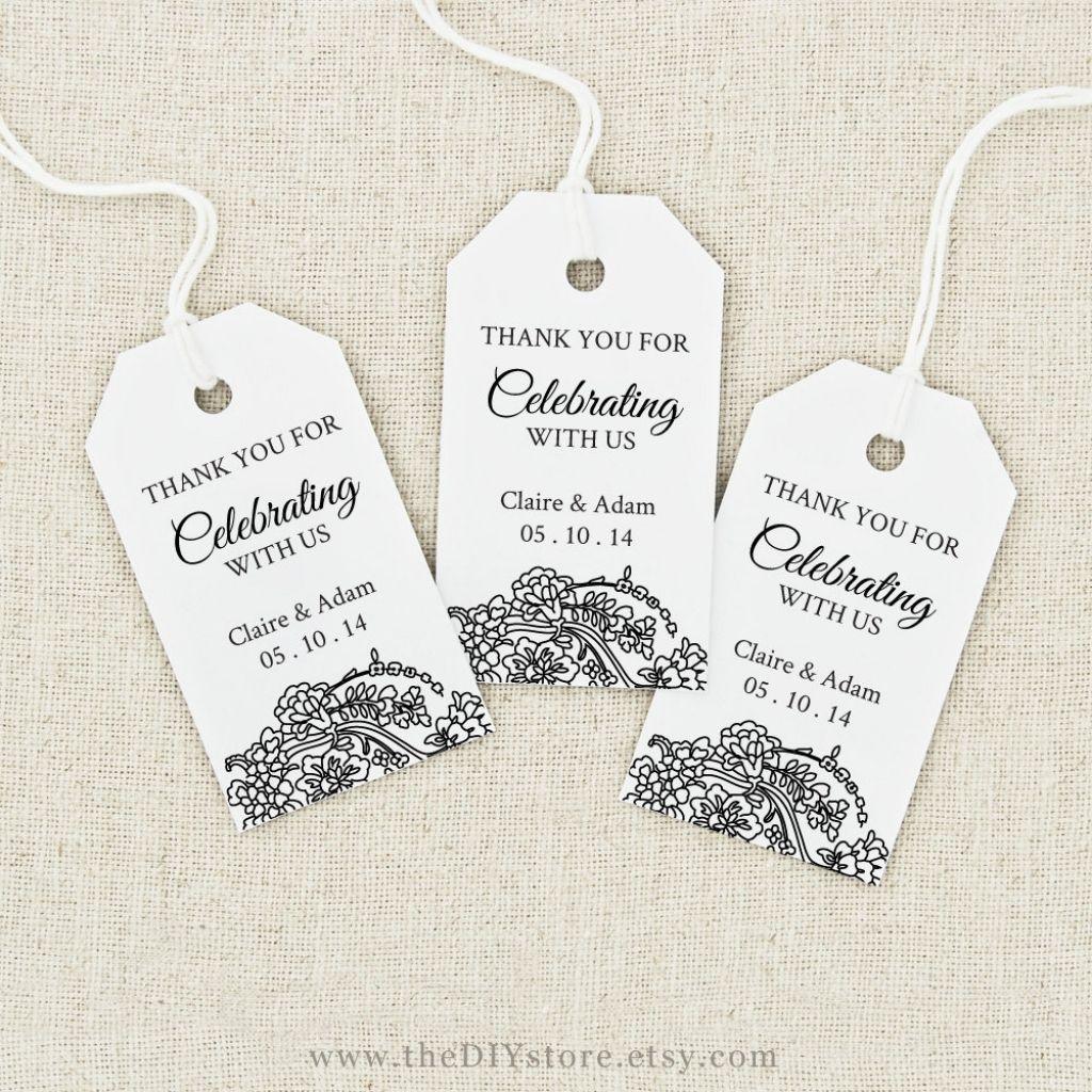 Image Result For Free Printable Wedding Favor Tags Template - Free Printable Wedding Thank You Tags