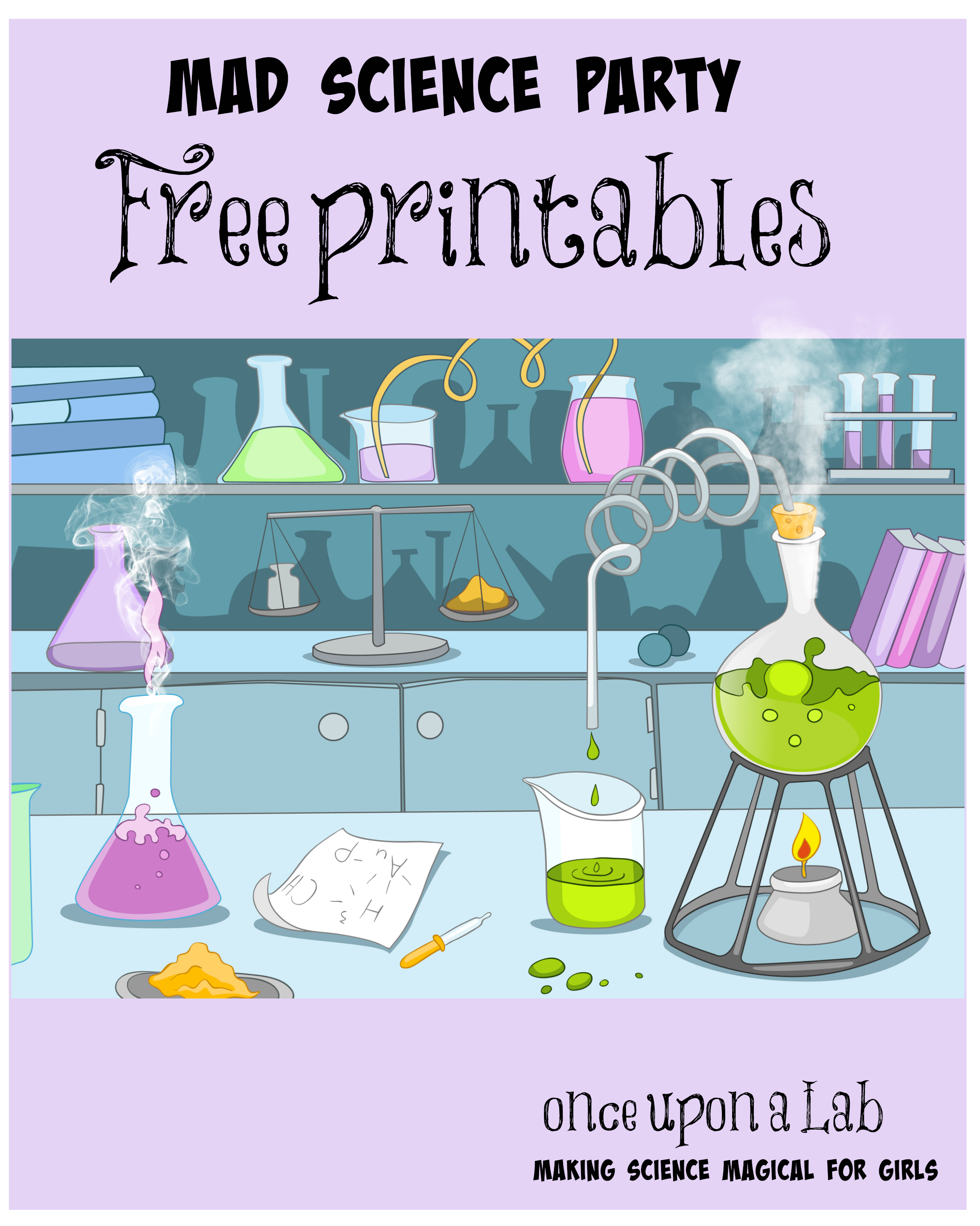 Image Result For Printable Mad Science Sign | Tea Time In 2019 - Free Printable Science Birthday Party Invitations
