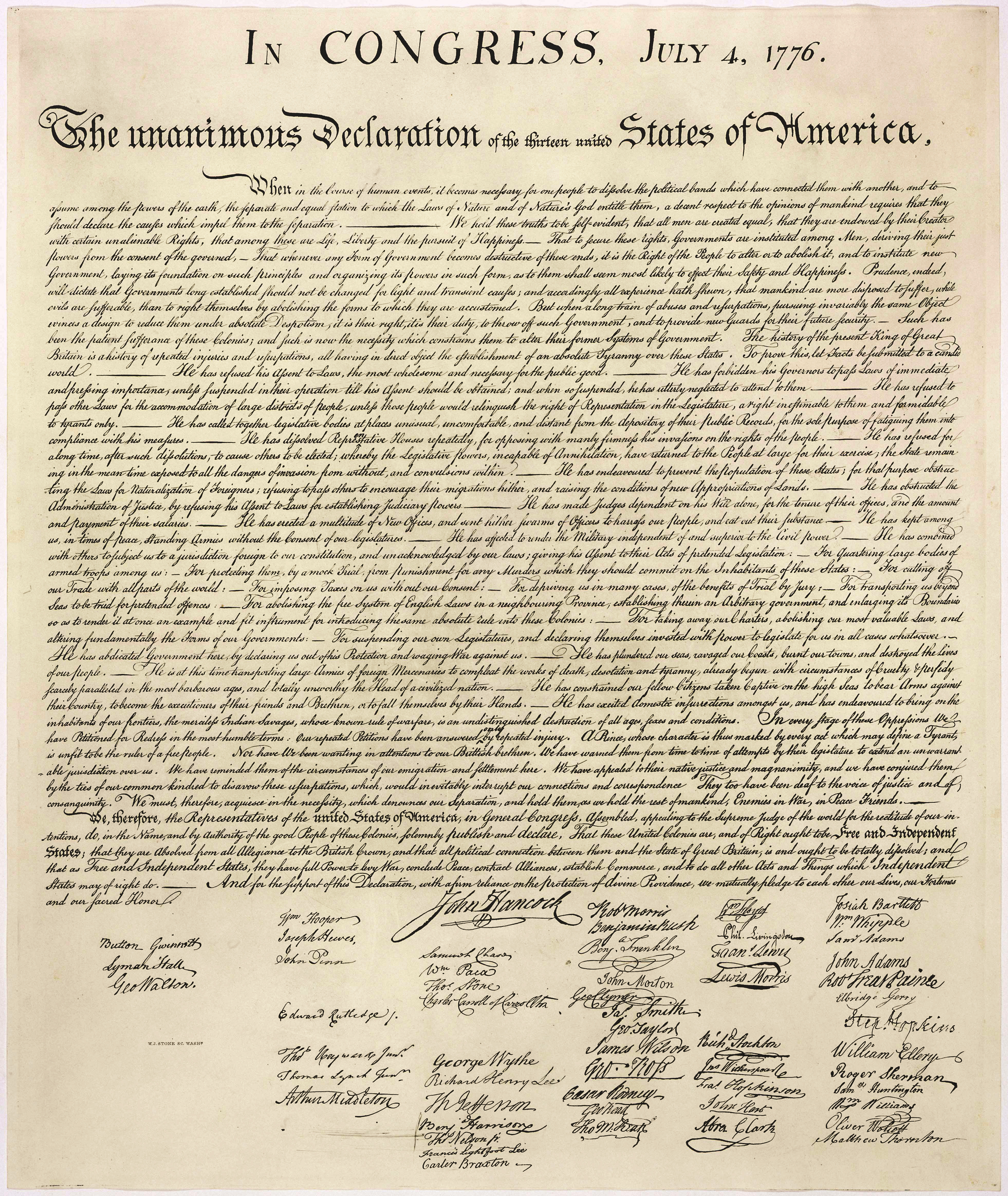 Images Of The Declaration | Thomas Jefferson's Monticello - Free Printable Copy Of The Declaration Of Independence