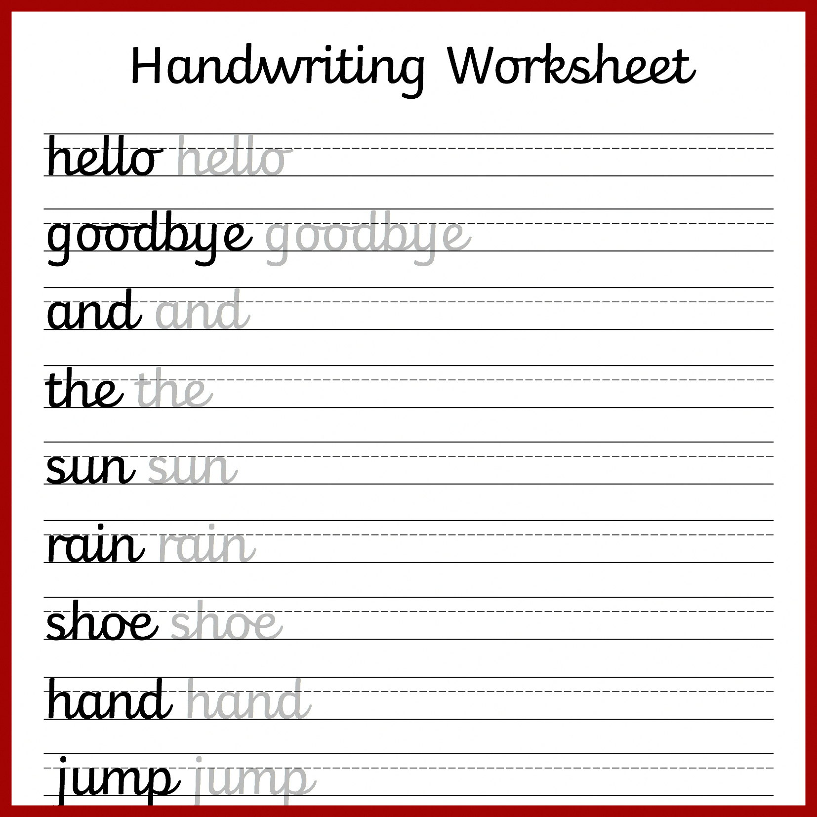 In A Follow Up To My Recent Post Sharing Some Non-Cursive - Free Printable Cursive Handwriting Worksheets