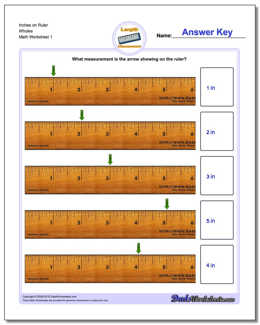 Inches Measurement - Free Printable Measurement Worksheets Grade 1