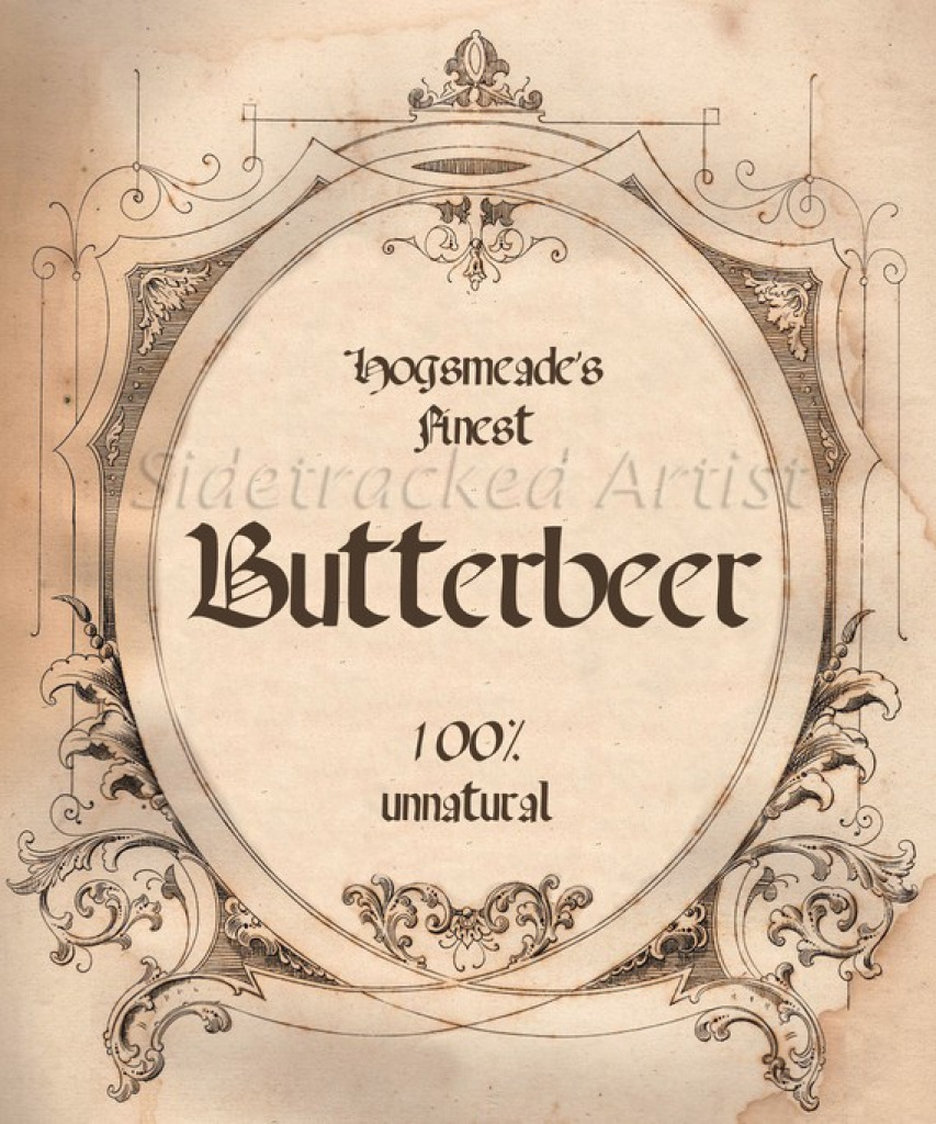 Ingested Read: Hogsmeade Butterbeer Tarts (For 'harry Potter - Free Printable Butterbeer Labels