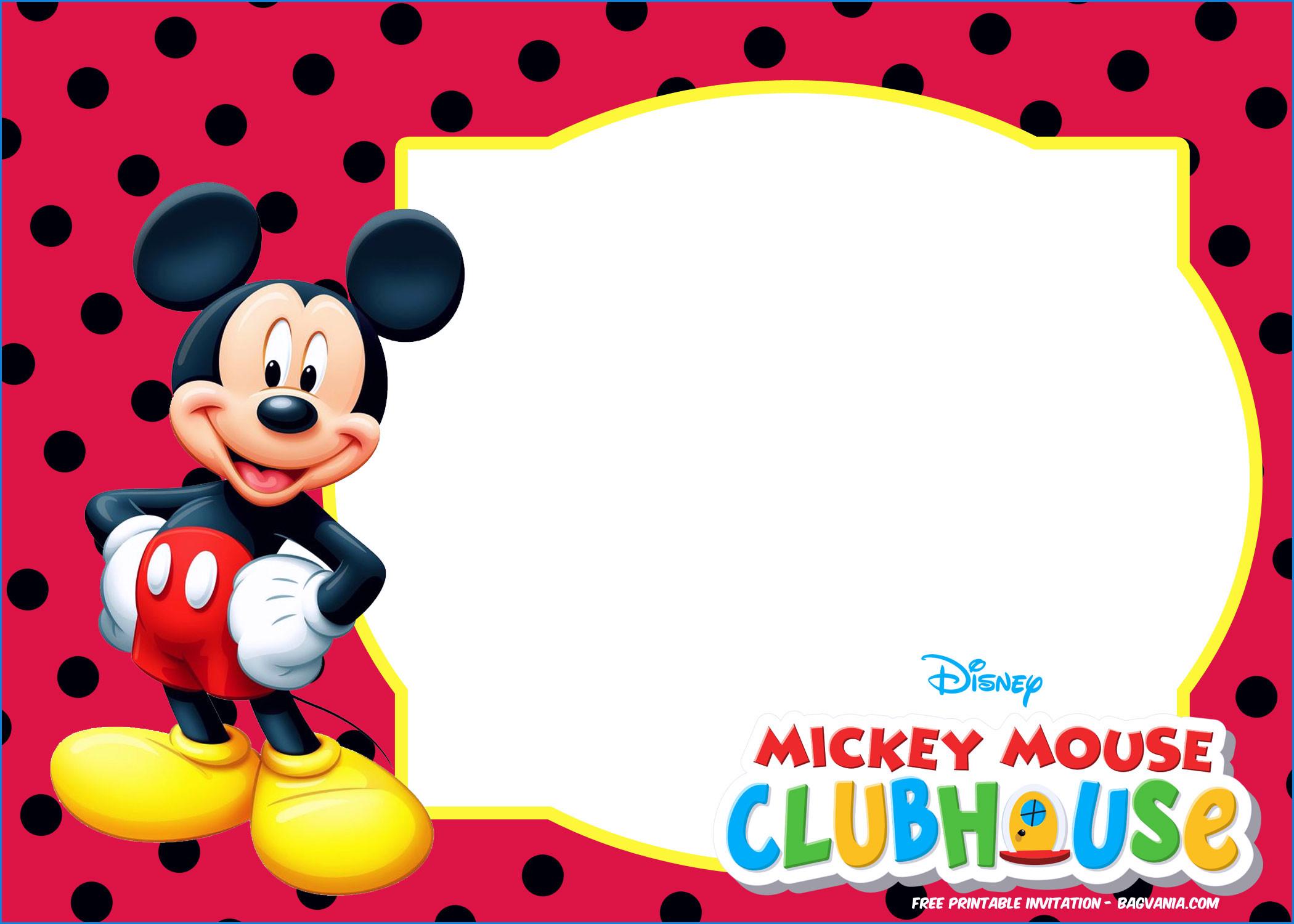 Inspirational Free Printable Mickey Mouse Invitations – Sarokapro - Free Printable Mickey Mouse Invitations