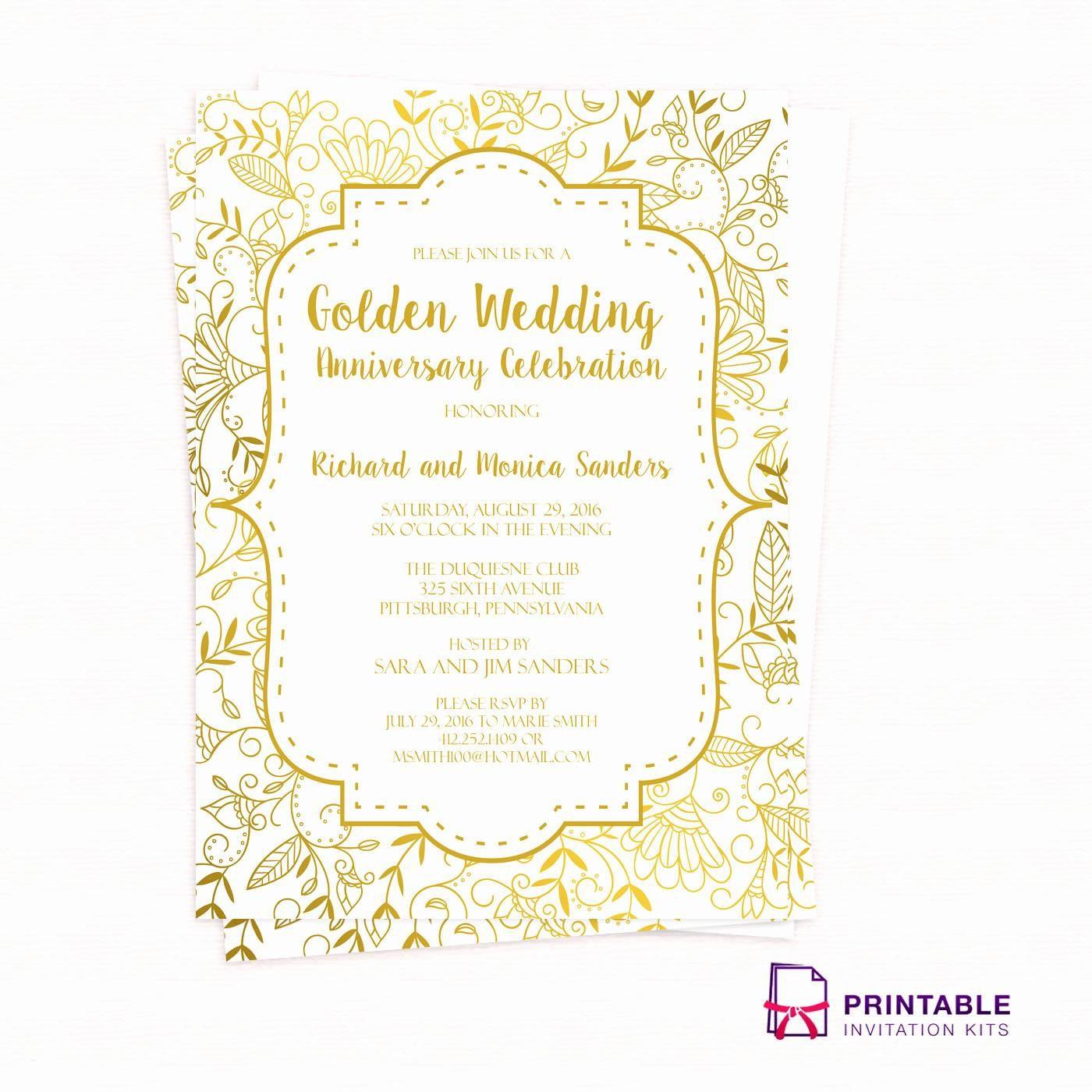Inspirational Printable 40Th Wedding Anniversary Invitations - Free Printable 40Th Anniversary Invitations