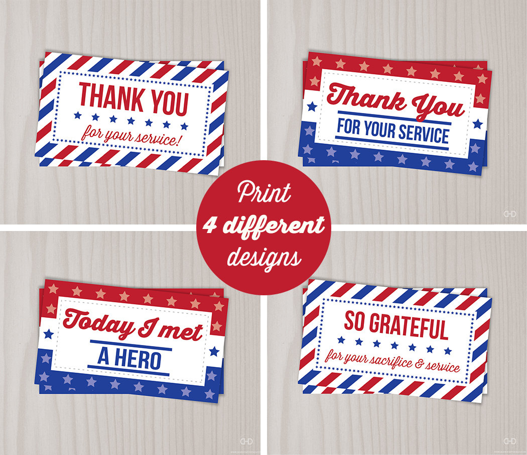 Instant Download Veterans Day Thank You Cards Military Thank | Etsy - Free Printable Patriotic Writing Paper